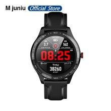 "L8 L9 חכם שעון לגברים IP68 עמיד למים אק""ג PPG לחץ דם קצב לב ספורט כושר שעון עבור אנדרואיד IOS"