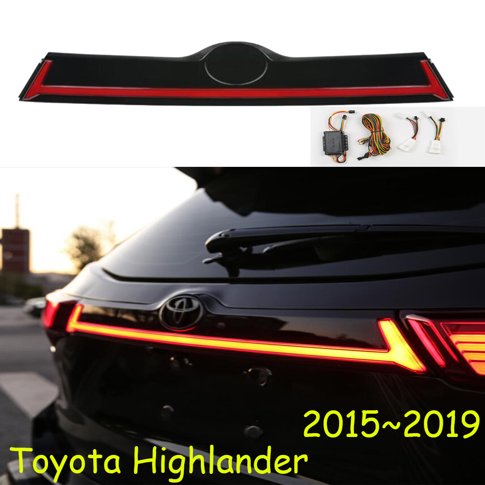 Kluger Dynamic Car Bumper Tail Light For Highlander Taillight LED Car Accessories Taillamp For Highlander Rear Light Fog
