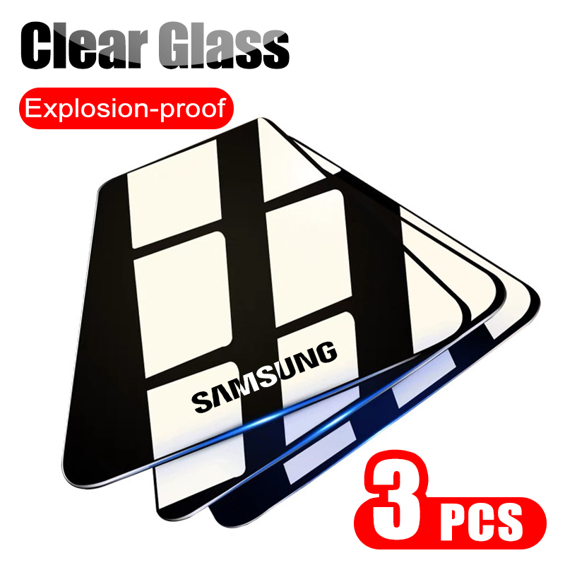 3Pcs Full Clear Protective Glass On For Samsung Galaxy A51 A71 A50 A70 Tempered Screen Protector For A50 A70 A51 A71 Glass Film