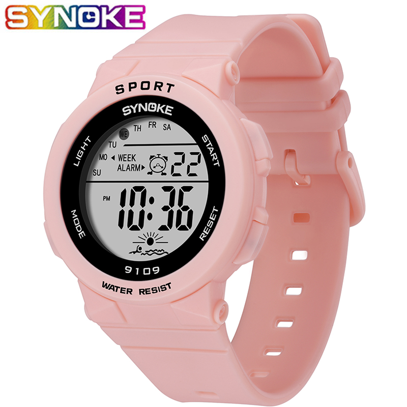 SYNOKE New Arrival Fashion 5Bar Waterproof Kids Watches Children Boy Students Digital LED Alarm Date Casual Sports Wrist Watch