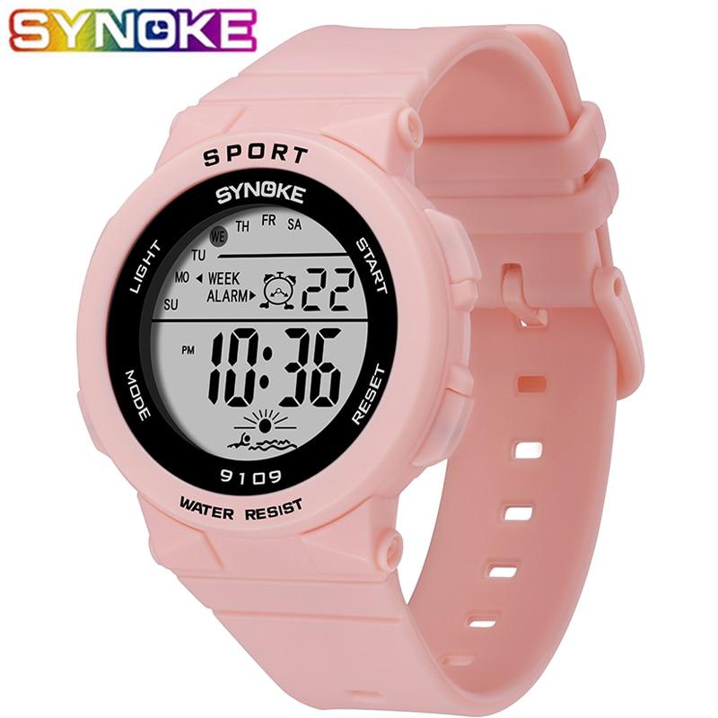SYNOKE New Arrival Fashion 5Bar Waterproof Kids Watches Children Boy Students Digital LED Alarm Date Casual Sports Wrist Watch