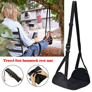 Footrest Memory-Foam Travel Airplane New with Premium Comfy-Hanger Hammock-Made