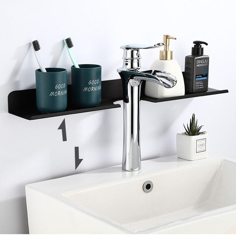 Liuyue Bathroom Shelf Aluminum Black