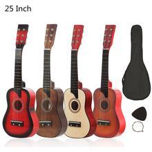 Гитара 23/25 дюймов Акустическая гитара из липы с сумкой pick Струны для детей и начинающих Музыкальные инструменты