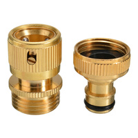 1 par 3/4 brass brass latão mangueira de água conector rápido jardim quintal torneira montagem ferramenta alta precisão longa duração