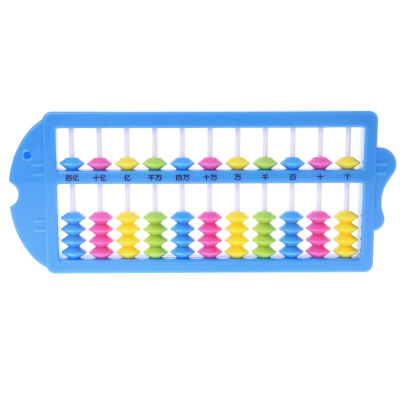 Chinese Abacus Arithmetic Soroban Maths Calculating Tools Kids Educational Toys 95AE
