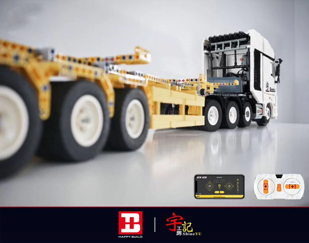 Builo qc007 fully rc benz actros 4163