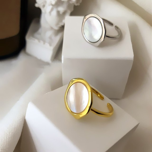 XIYANIKE 925 Sterling Silver Round Geometric Irregular Ring Simple INS Unique Design Cool Shell Opening  Jewelry Кольцо Female