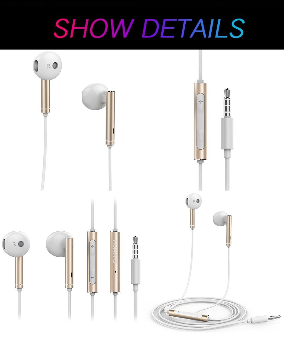 详情8Original Huawei P10 Plus Honor AM116 Earphone Metal With Mic Volume Control For HUAWEI P7 P8 P9 Lite Honor 5X 6X Mate 7 8 9