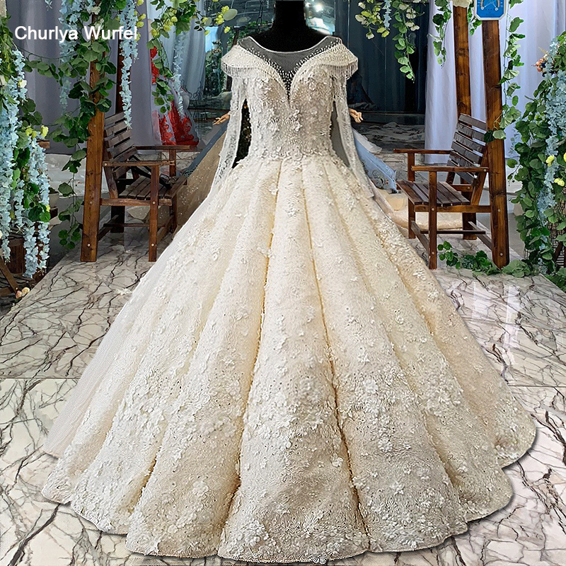 Ls00460 3d Flowers Wedding Dress O Neck Long Tulle Sleeves Ball Gown Lace Up Back Bridal Wedding Gown With Long Train As Photos Wedding Gowns Bridal Wedding Gownsflower Wedding Dress Aliexpress,Country Wedding Dresses For Mother Of The Groom