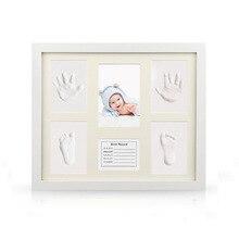 Купить с кэшбэком Non-Toxic Newborn Handprint Footprint Baby Souvenirs Casting Imprint Kit Infant Footprint Ink Pad Foot Print Pad Baby Care