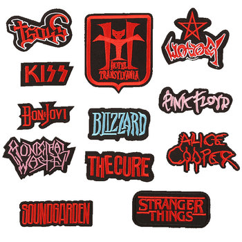 Punk Rock Stripes Letter Badges Patch Iron on Patches for Clothing Stickers on Clothes Embroidered Patches for Appliques DIY G with rhinestones star skeleton iron on patches stripes for clothes diy embroidered patch applique badges clothing t shirt crafts