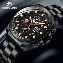 FORSINING Mechanical Watch Mens Multi-function Stainless Wat