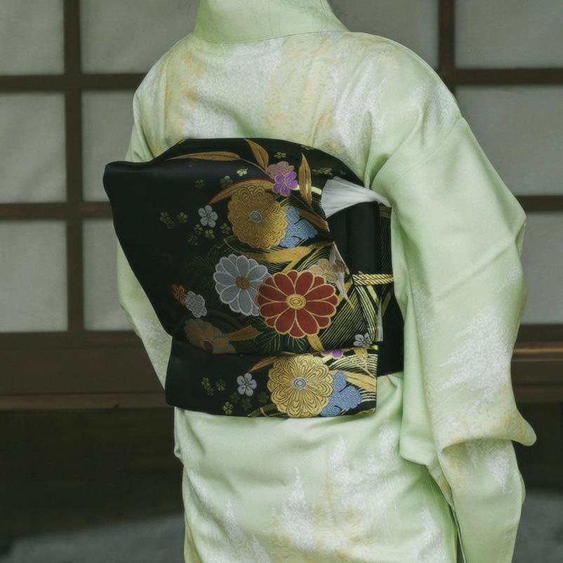 2019 Handmade Japanese Style Original Kimono Accessories  Floral Print  Waist Belt