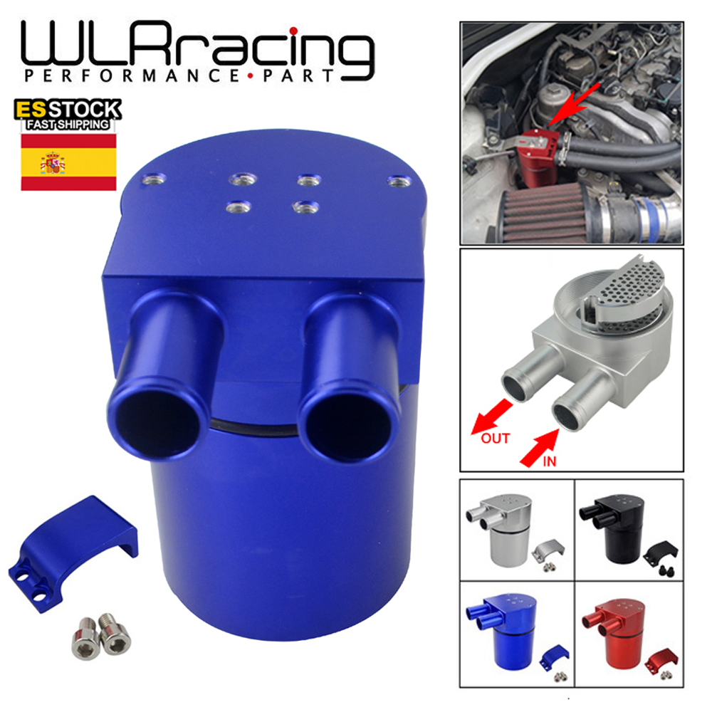 WLR RACING   UNIVERSAL Aluminum Alloy Reservior Oil Catch Can Tank for BMW N54 335 BLACK & SILVER &  Red & Blue WLR TK60|catch oil tank|oil catch tankoil catch can tank - AliExpress