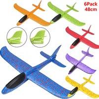 PPE espuma de vuelo de avión mano lanzamiento libre volar avión mano tirar avión rompecabezas modelo juguetes para niños 36cm48CM