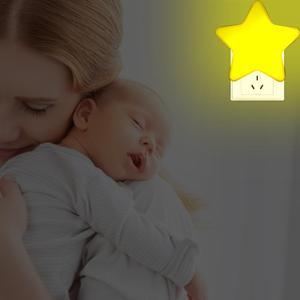 Вилка со светодиодами-в ночник звезда дистанционное управление Диммируемый свет Милая лампа синхронизации спальня ванная коридор многост...