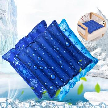 Snowflake Drip Print Water Filling PVC Ice Cushion Home Car Seat Elastic Mat Chair Pad Protection Cervical Spine Cooling Pillow image