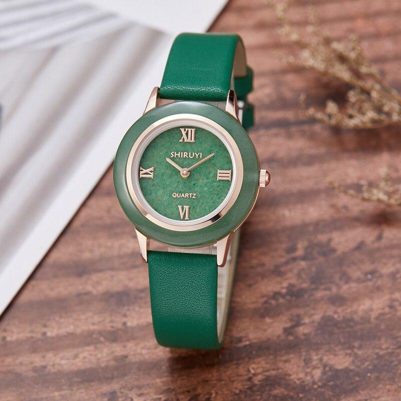 Gorben Genuine Leather Quartz Watch Roman Numerals Women Clock Fashion Casual Female Wristwatch Luxury Wrist Watches - 2