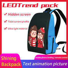 Edison Newest Led Backpack Men Backpack WIFI Version Led Display Smart Backpack  Light Multi-function Computer Backpack mochila