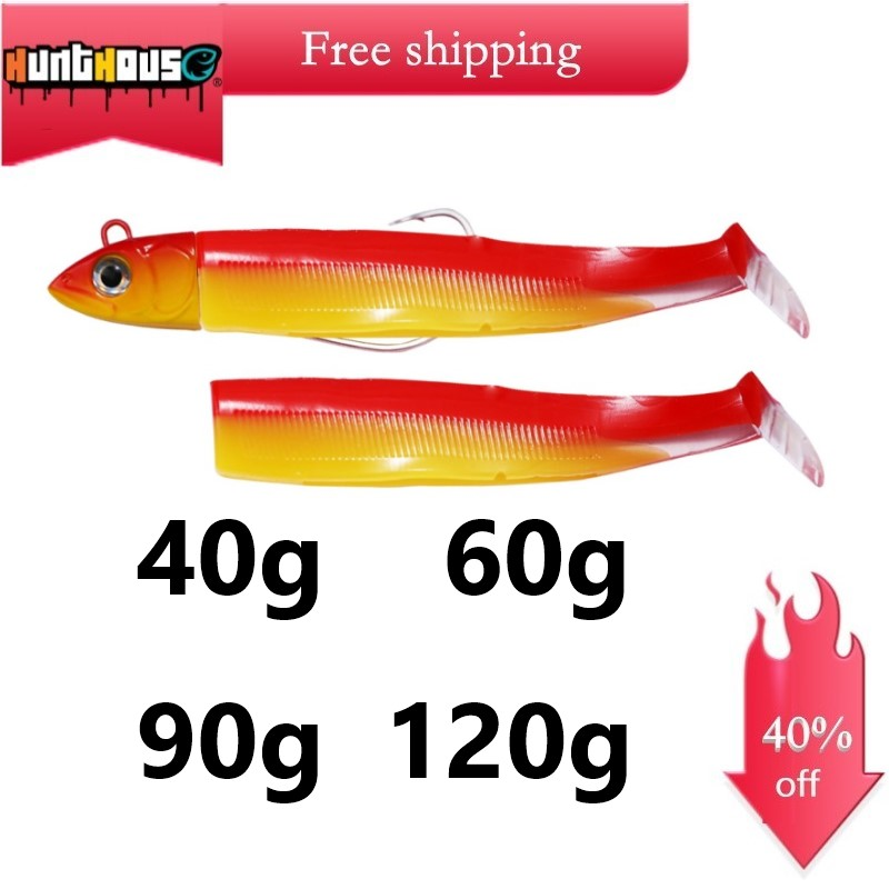 Hunthouse Black Minnow 180mm 120g 160mm 90g 140mm 60g 130mm 40g 120mm 25g Fishing Lure Soft Pike Lure Leurre Souple Shad