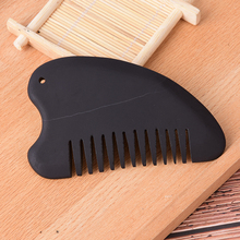 Black Bian Stone Guasha Comb Energy Gua Sha Board Acupuncture Massage Relaxation No Static