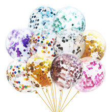 Gold Foil Confetti Transparent Balloons Gold Foil Confetti Latex Balloon Party Wedding Birthday Balloons Baby Shower Decoration(China)