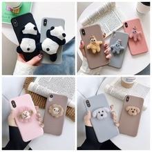 3D Cute Plush Panda Lion Dog DIY Case For iPhone