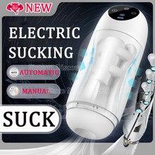 Nowy automatyczny ssanie mężczyzna Masturbator sztuczna pochwa z prawdziwą pochwą elektryczna pompa próżniowa Sucke kubek do masturbacji zabawki erotyczne dla mężczyzn