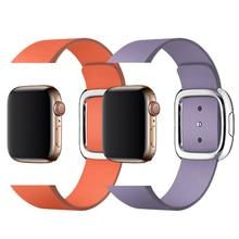 Modern Buckle strap for apple watch band 38mm 40mm 42mm 44mm bracelet Genuine leather weave watchband for iwatch 4/3/2/1 belt все цены