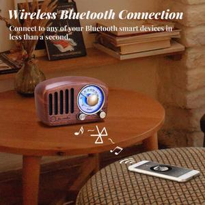 Image 5 - PRUNUS J 919 klasik retro radyo alıcısı taşınabilir mini ahşap FM SD MP3 radyo stereo bluetooth hoparlör AUX USB şarj edilebilir