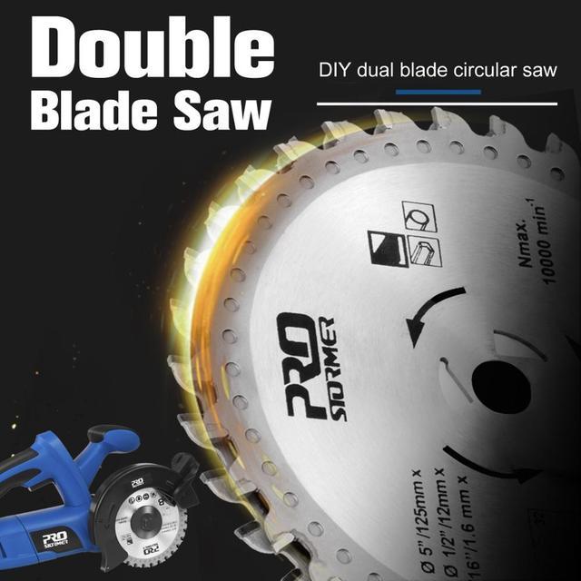 1050W Electric Circular Saw Fast Cutting Wood Metal Marble Tiles,230V Mini Electric Saw Dual Blade Metal Cutting Machine 4