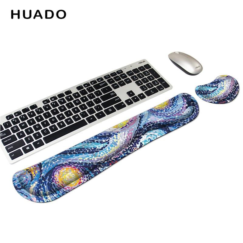 Mouse Wrist Pad Set Gel Wrist Rest Support Cushion Memory Foam Mat Non-Slip