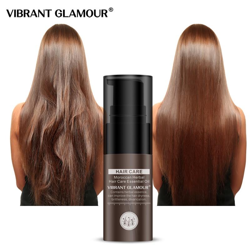 VIBRANT GLAMOUR Moroccan Herbal Hair Growth Essence Nourish Serum Repair INS HOT Hair Scalp Treatments
