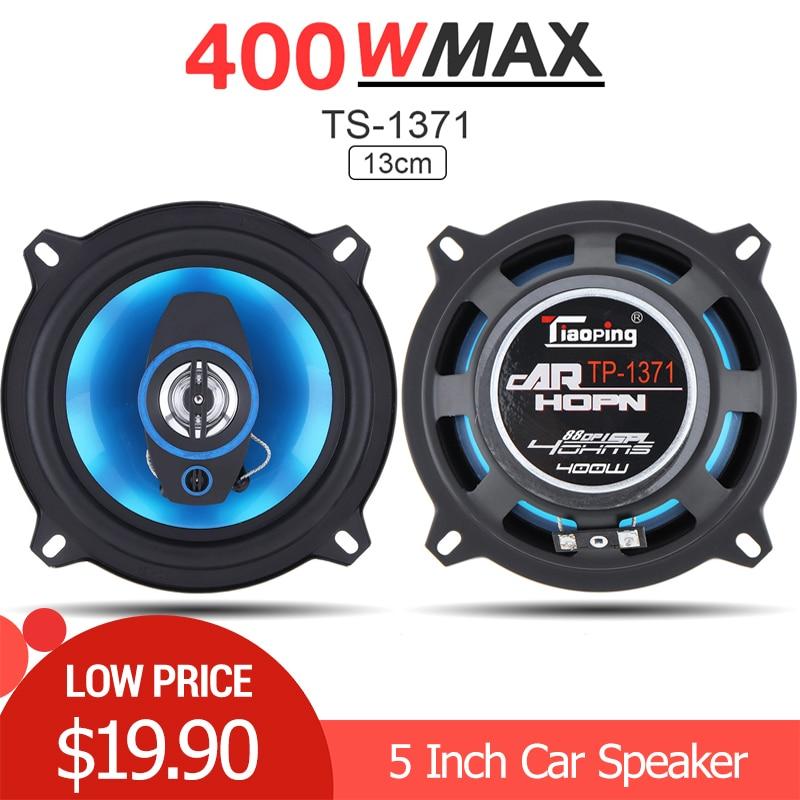 2 piezas 5 pulgadas 400W 2 vías coche Coaxial Audio música estéreo de gama completa altavoces Hifi para coches y vehículos