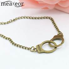 Women Fashion Casual Handcuffs Link Chain design, fashion unique. Bracelet/Necklace Bracelet Necklace Hasp(China)