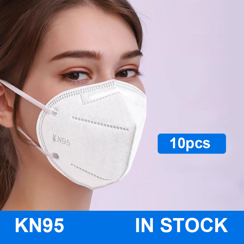 10PCS N95 5 Layers Mask Antivirus Flu Anti Infection KN95 Masks Particulate Respirator PM2.5 Protective Safety  In Stock
