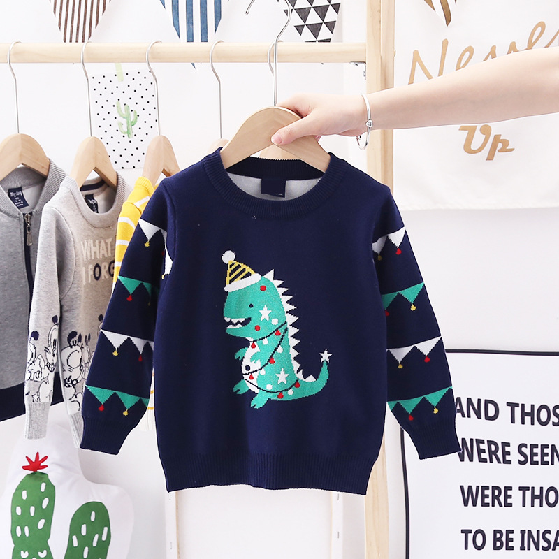 2020 Autumn Winter Christmas Kids Sweaters Knitting Pullover Baby Children Clothes Toddler Girls Fleece Soft Warm Sweater 3-10Y 4