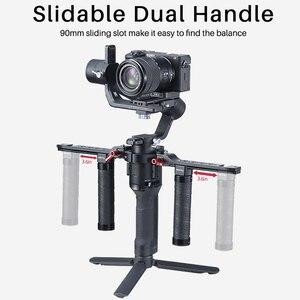 Image 2 - Uurig Dji Ronin Sc/S Dual Handleld Camera Stabilizer Verlengen Handvat Grip Voor Dji Ronin Sc/S Gimbal stabilizer Accessoires