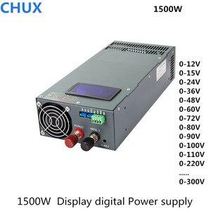 Image 1 - Switching Power Supply 1500W 12v 15v 24v 27v 36v 48v 60v 72v 80v 90v 100v 110v  220v 300v with display adjustable power supply