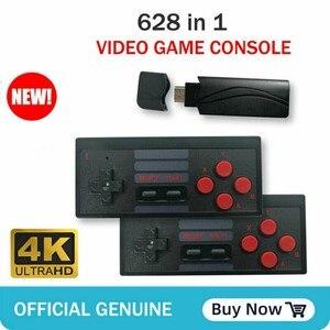 USB Wireless Console Game Stick Video Game Console Built in 628 Classic Game 8 Bit Mini Retro Controller HDMI Output Dual Player