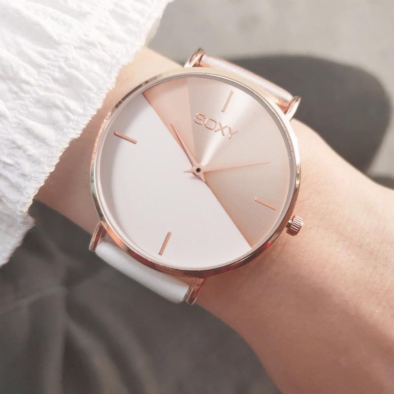 Women 2019 Top Fashion Watch Luxury Women Leather Band Analog Quartz Wrist Watch Golden Ladies Watch Women Dress Reloj Mujer