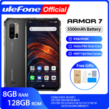 Ulefone Armor 7 IP68 Rugged Mobile Phone 2.4G/5G WiFi Helio