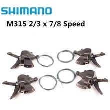 Lever Trigger-Set Transmission Shifter 2x7 Mountain-Bike-Shift M360 SL-M315 Shimano Altus
