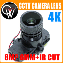 "4K HD 6 мм объектив 8MP F0.95 M16 с фокусным расстоянием 1/2, 7 ""ir cut + объектив для IMX327 , IMX307 , IMX290 , IMX291 плата камеры, модуль"