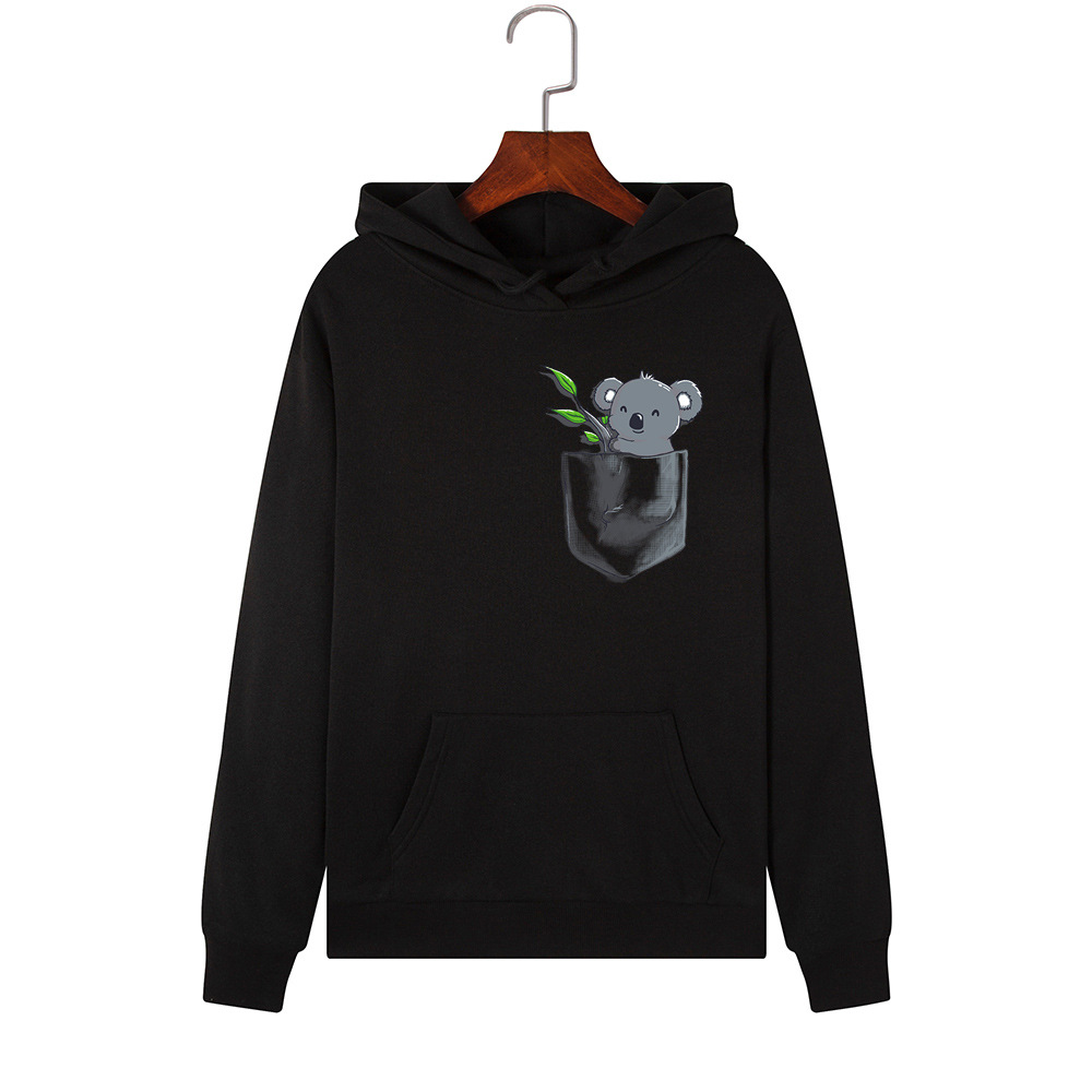 H28750e0ceef248f28f65229df818bc18V - Hoodies Women Brand Female Long Sleeve Cute Animal Koala Print Hooded Sweatshirt Tracksuit Pullover Casual Sportswear S-2XL