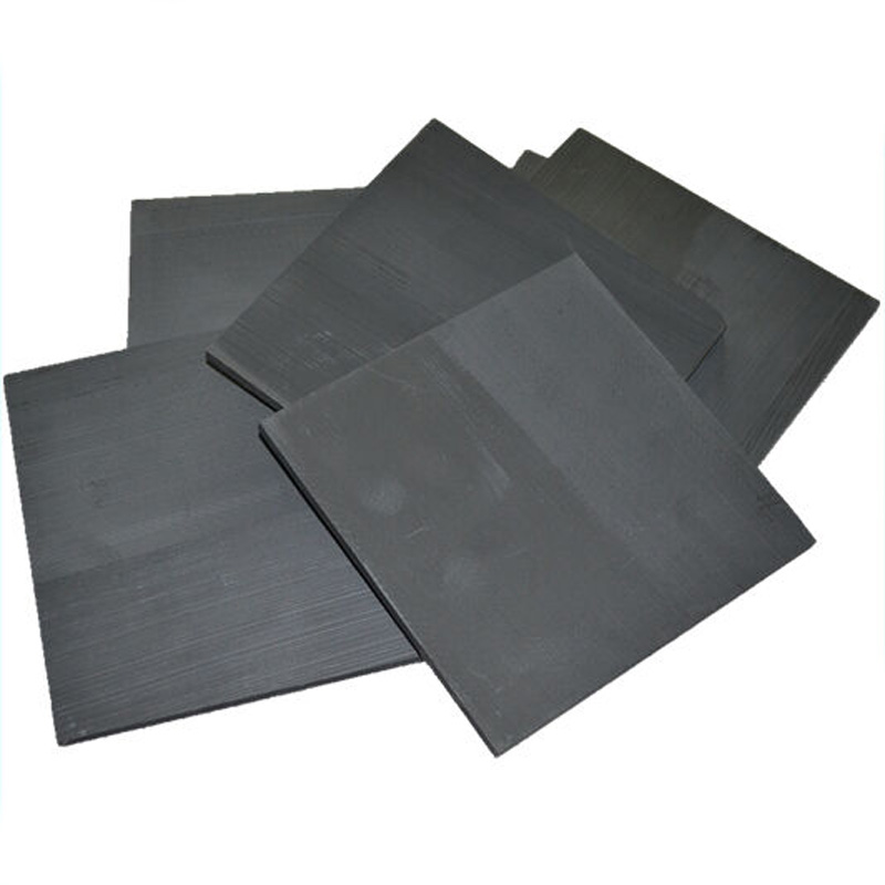 5pcs 99.99% Pure Graphite Electrode Rectangle Plate Sheet Set Kit 50*40*3mm Black Home Use