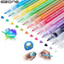 Markers-Set Painting Acrylic-Paint EZONE Stationery-Supplies Drawing Calligraphy Colored