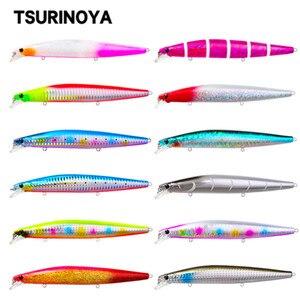 Tsurinoya dw92 afundando minnow 140mm 26g profissional isca de pesca preto pique artificial duro saltwayer isca de água doce