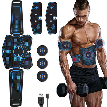 EMS Abdominal Muscle Stimulator Trainer Abs Fitness Weight loss Body Slimming Training Muscles Electrostimulator Toner Massage wireless abdominal muscle stimulator ems stimulation body slimming weight loss muscle exerciser for abdomen arm training